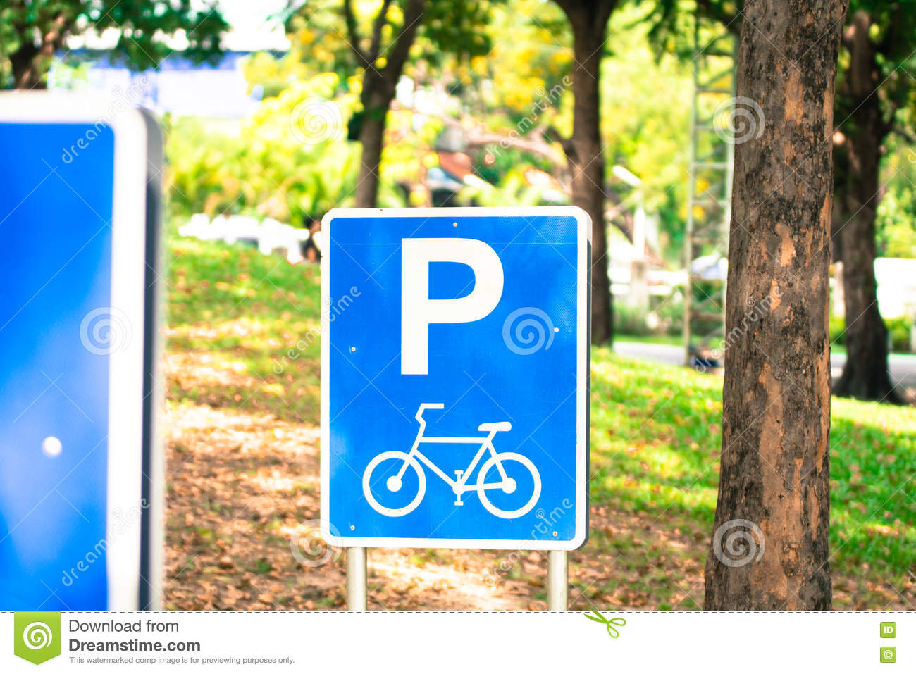 Bicycle Traffic Signs in park, Thailand