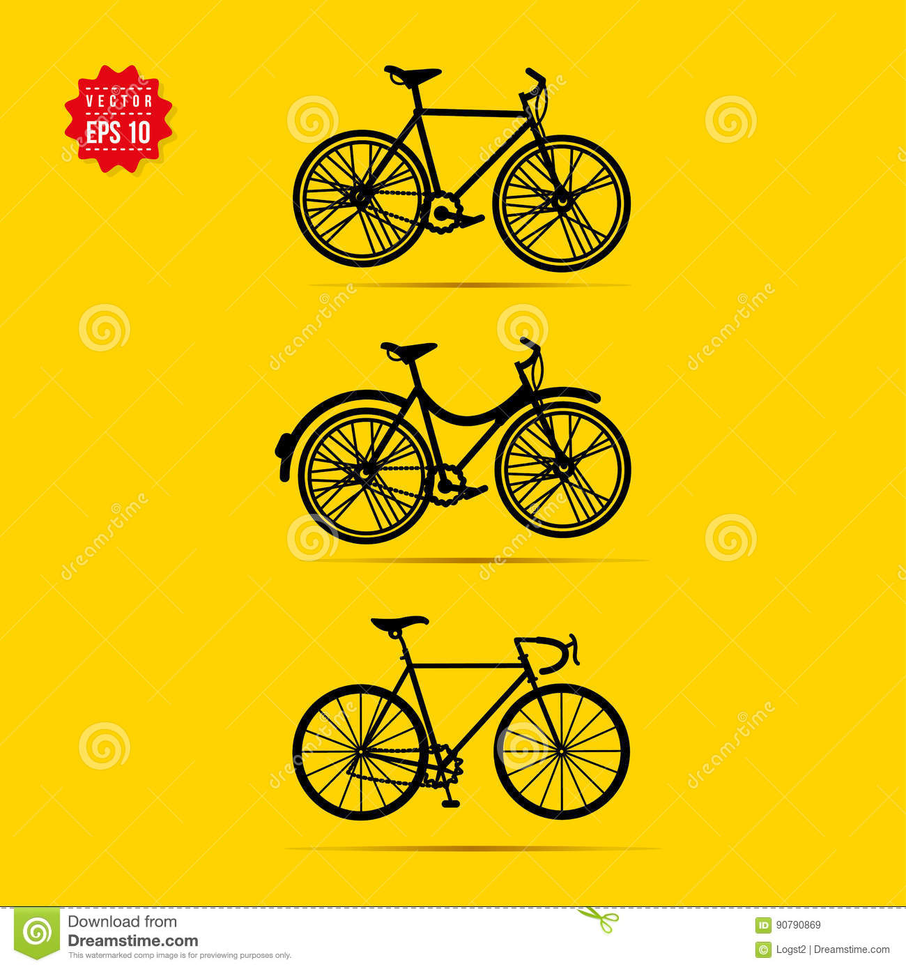 Simple bicycle illustration - photo#47