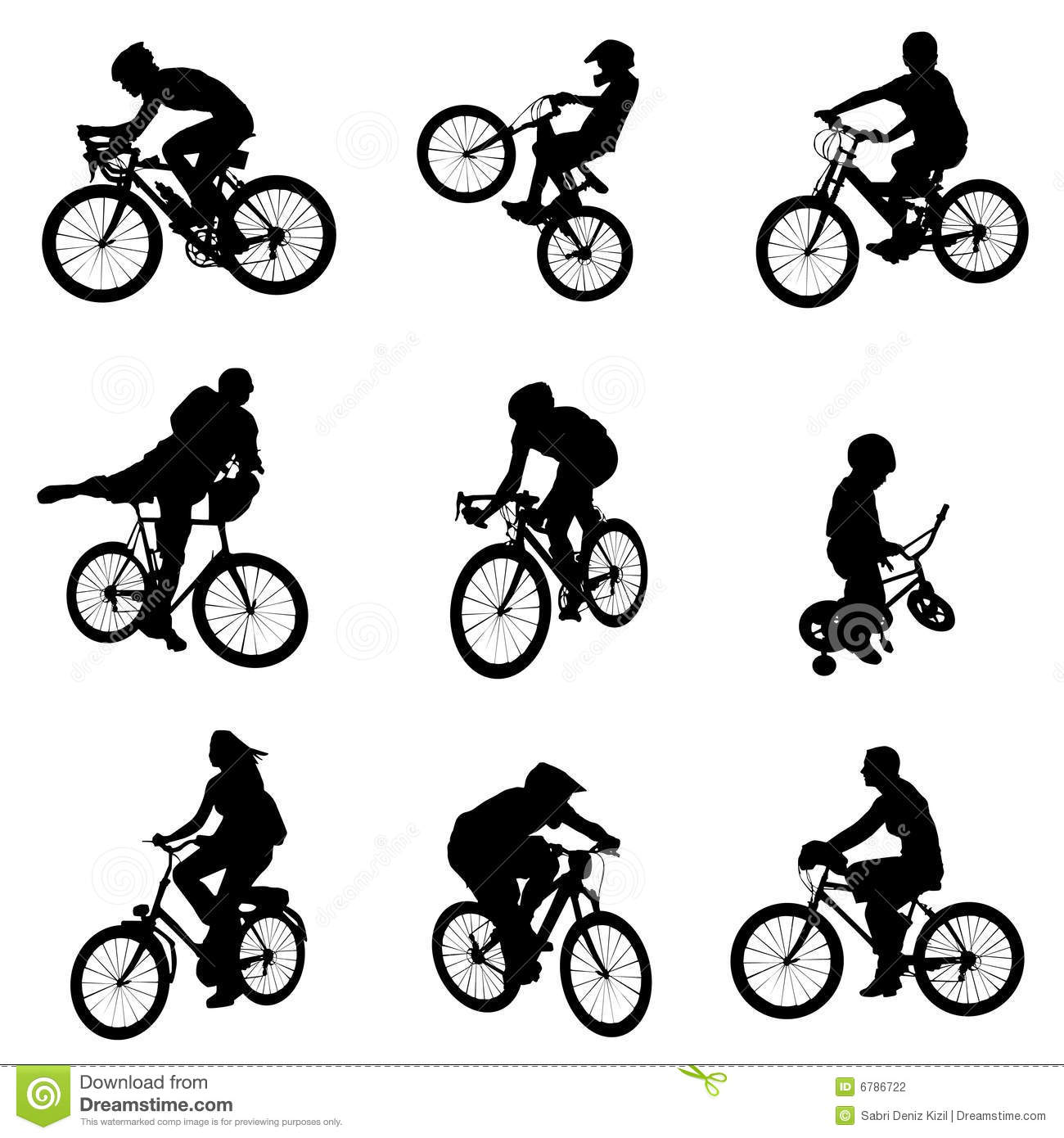 Bicycle Vector Set Stock Photography - Image: 6786722