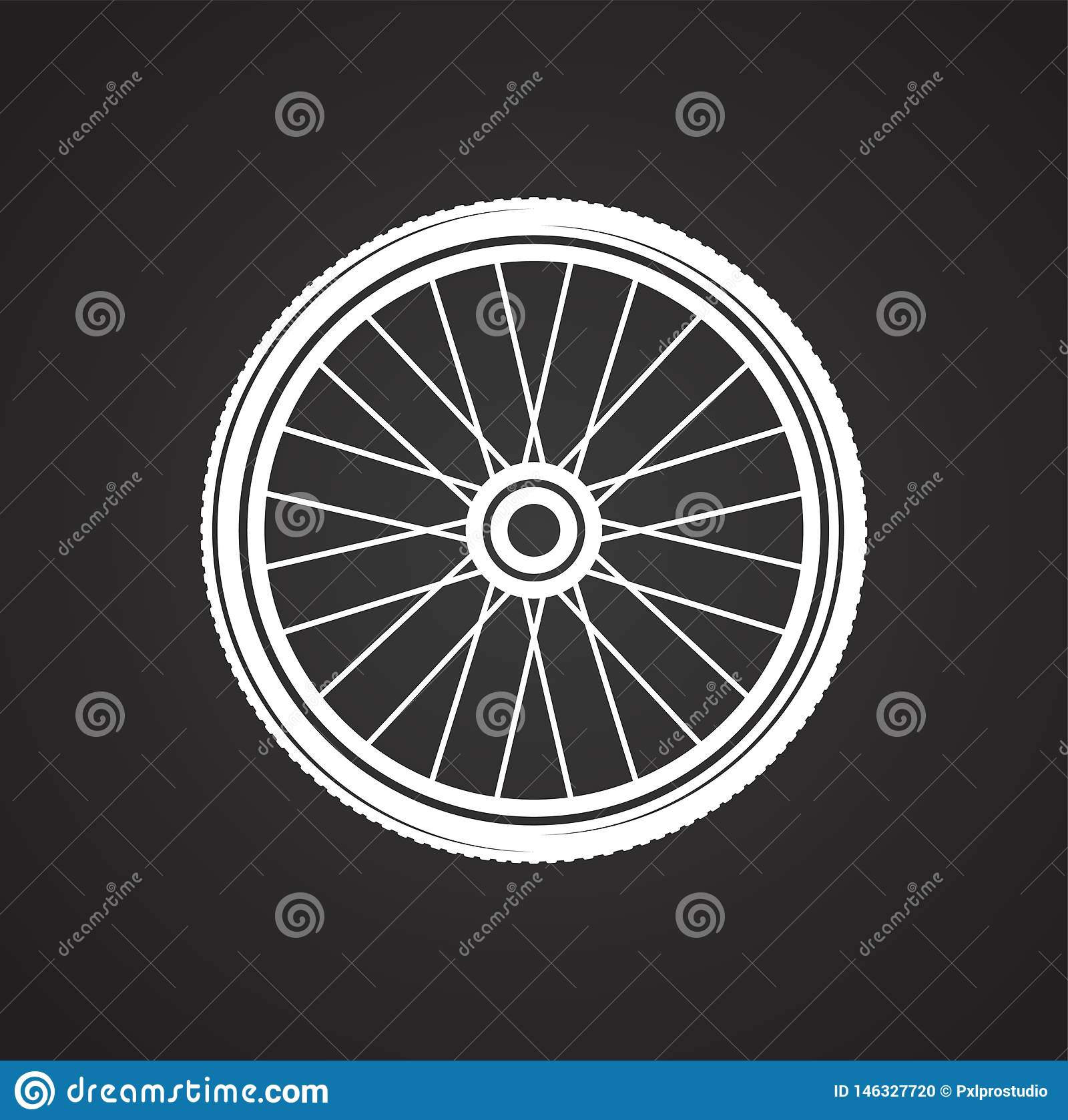 Bicycle Wheel Icon On Background For Graphic And Web Design Simple Vector Sign Internet Concept Symbol For Website Stock Vector Illustration Of Clip Healthy 146327720