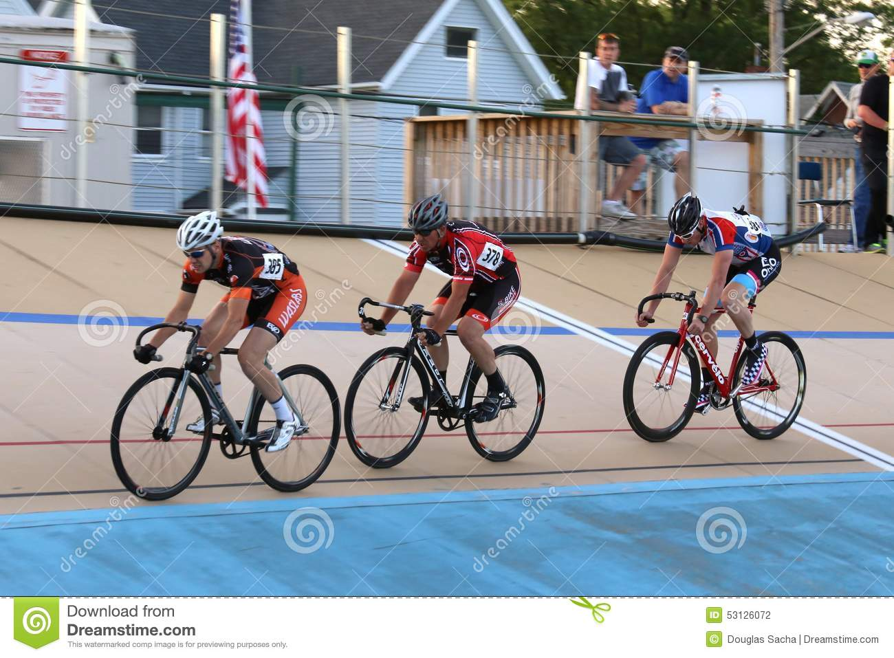 Bicycles On The Velodrome Track Editorial Photography ...