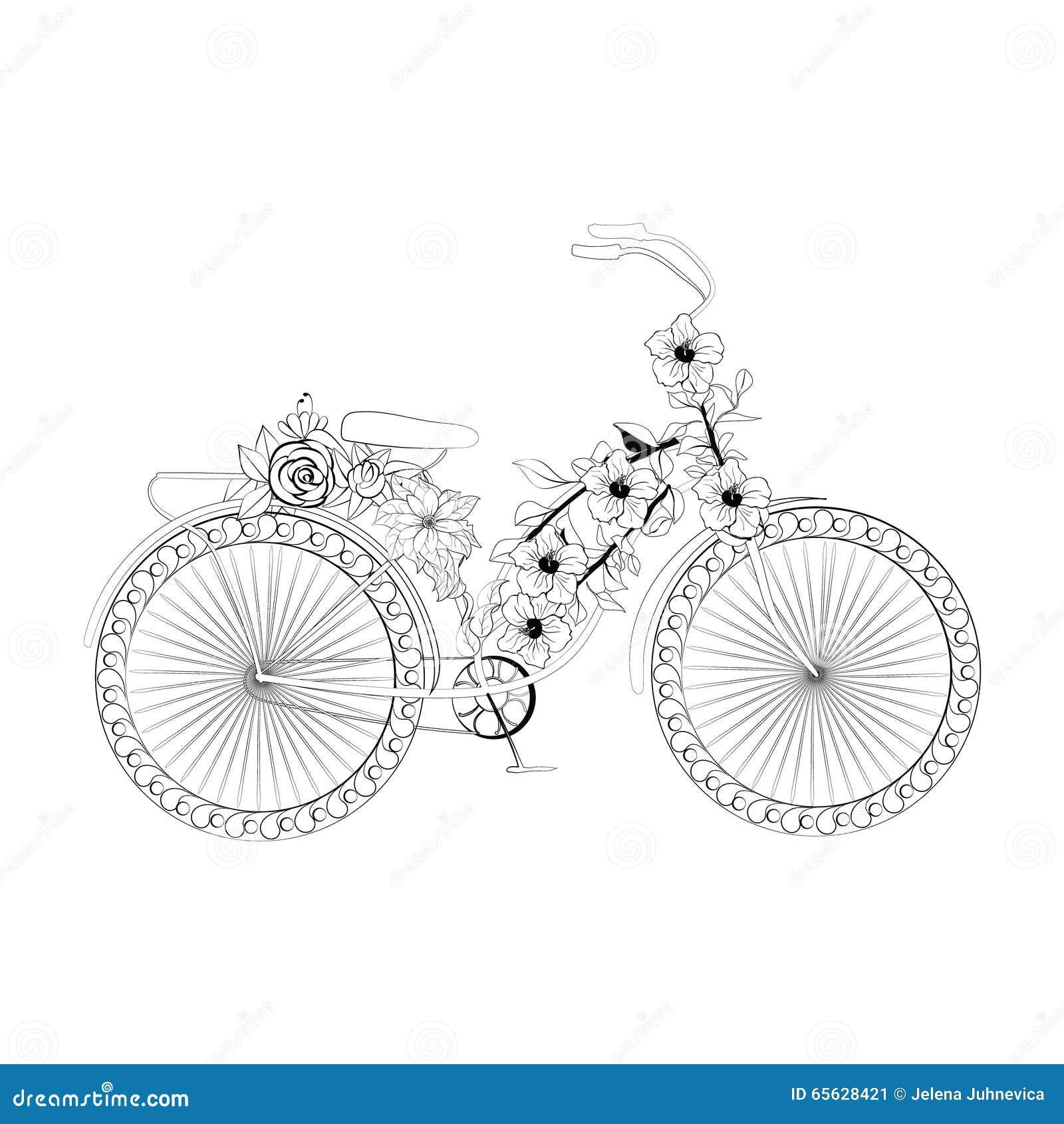 Bicyclette abstraite d imagination