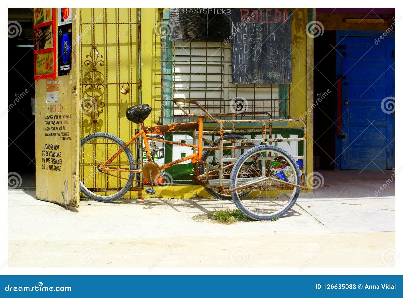 Bicyclette bélizéenne typique