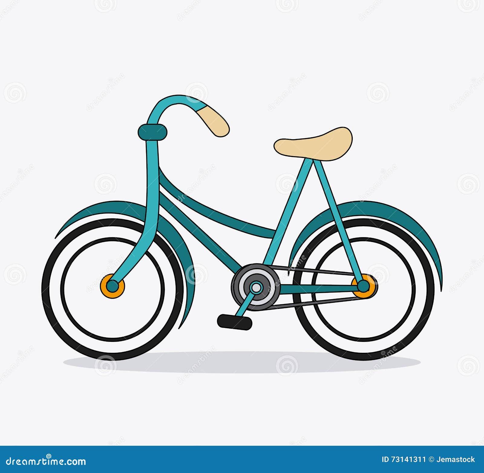 Bicyclette Classique Icône De Vélo Concept De Sport Dessin ...