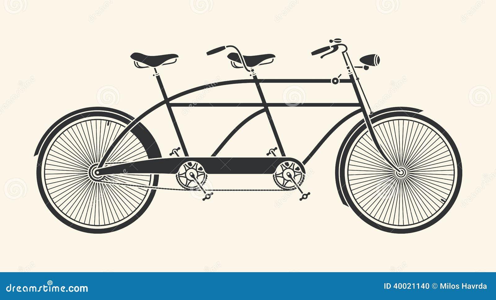 Bicyclette de tandem de vintage