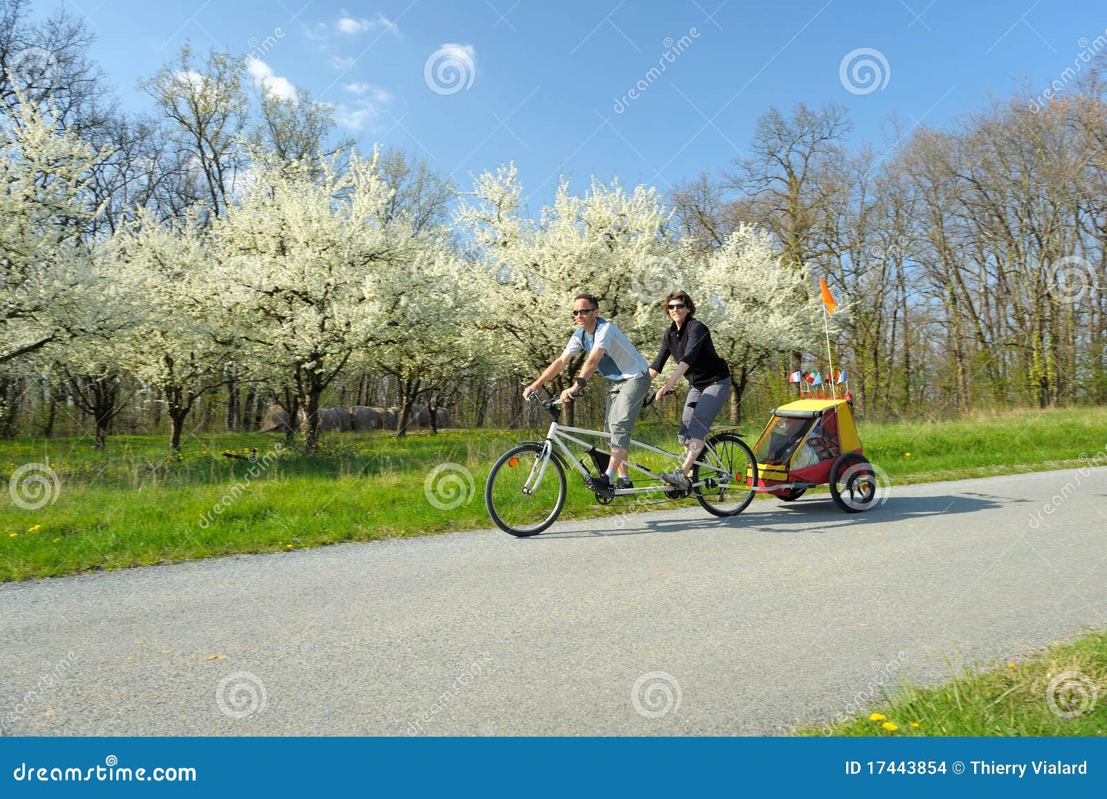 Bicyclette tandem deux