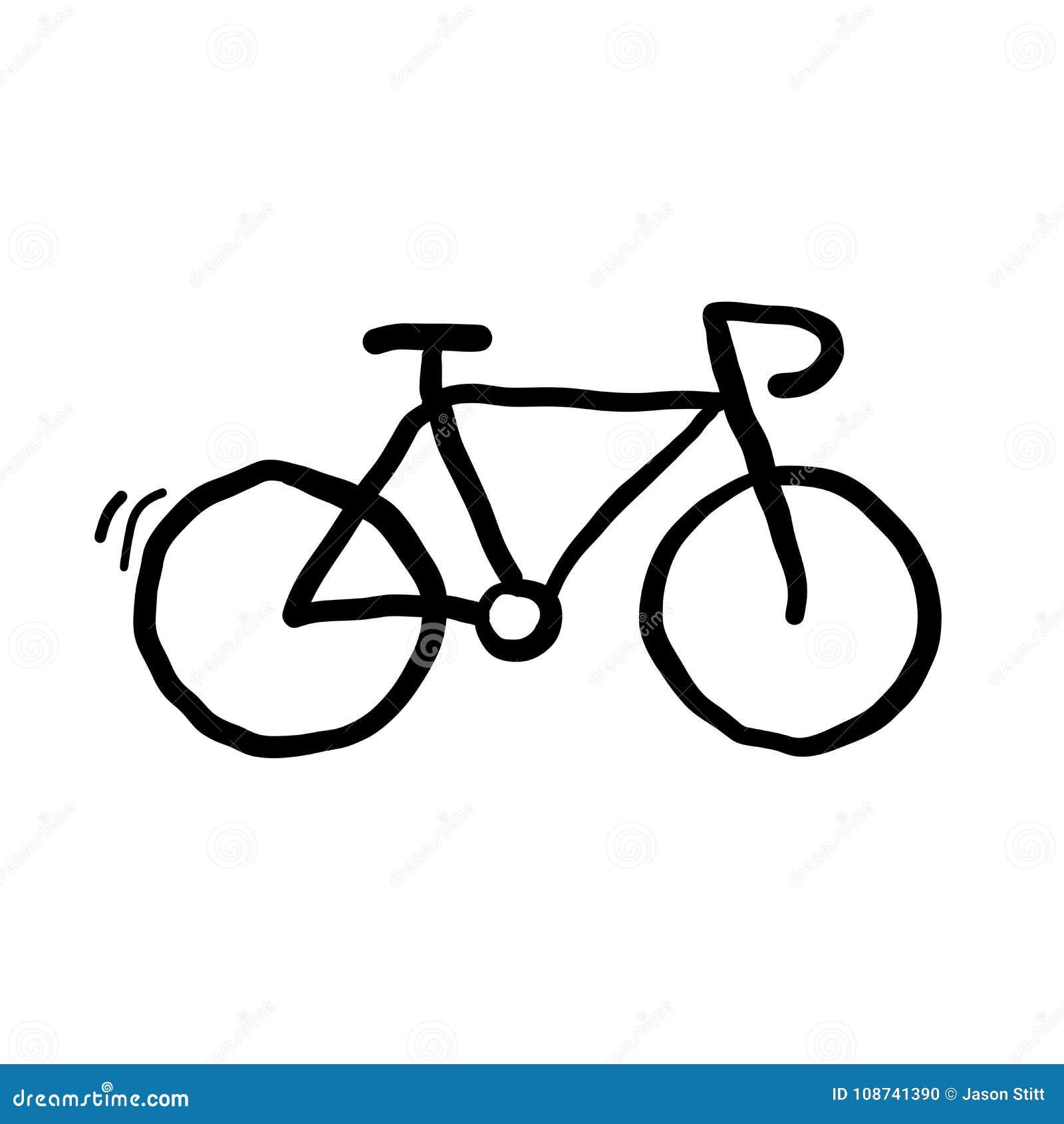 Bicyle-Gekritzel-Vektor