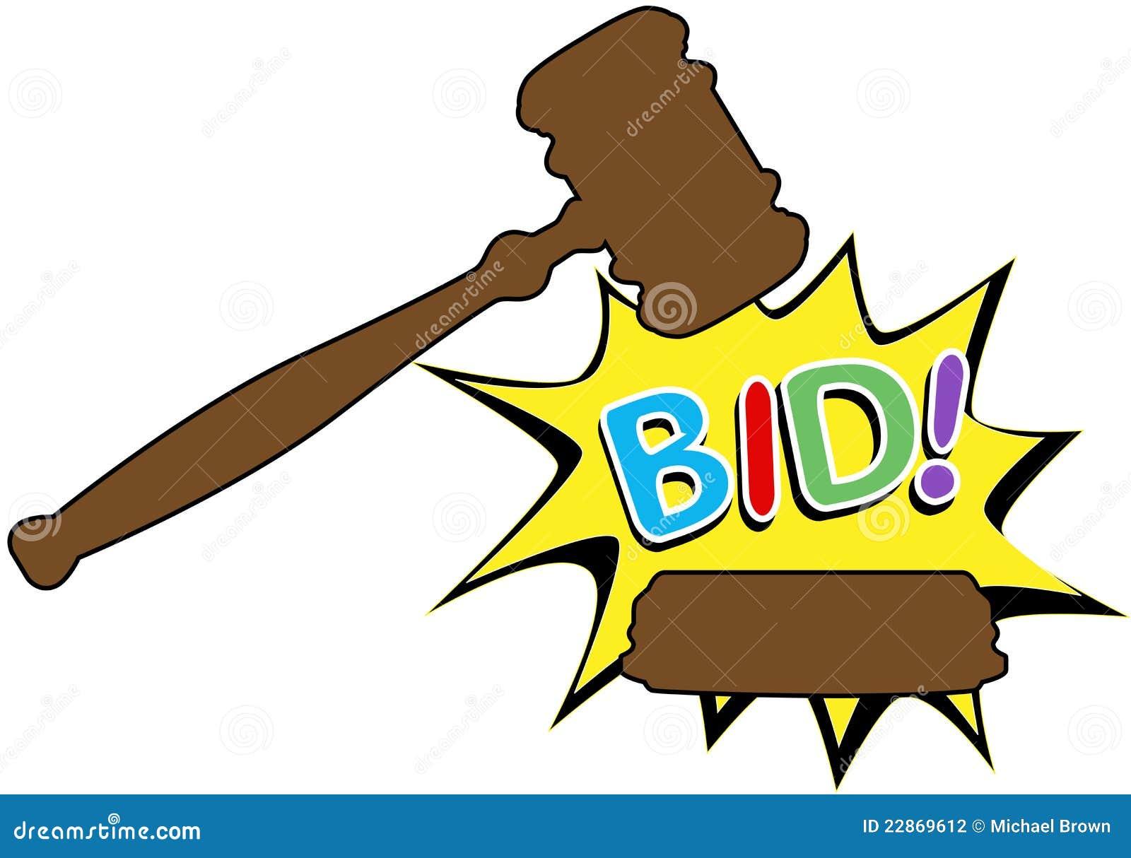 Auction Gavel Sold Cartoon Icon Royalty Free Stock Photo - Image ...