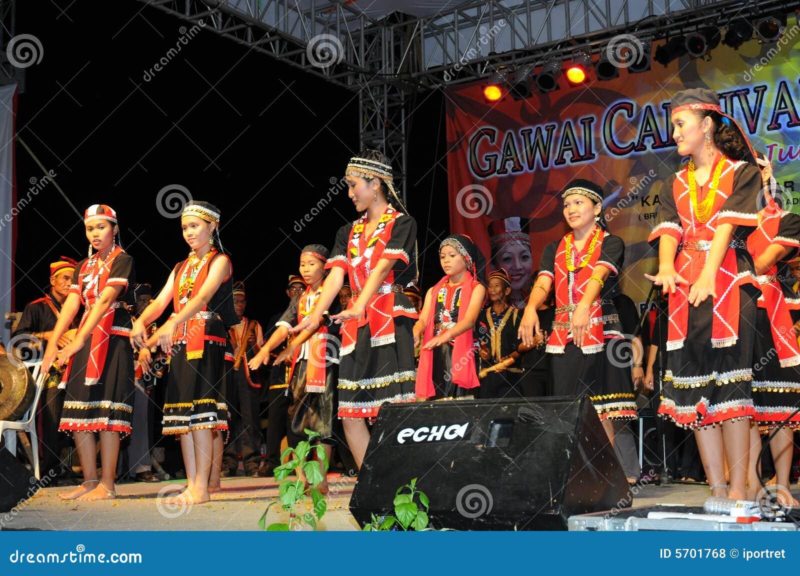 Bidayuh Women Dancers Editorial Stock Photo Image Of Performance 5701768
