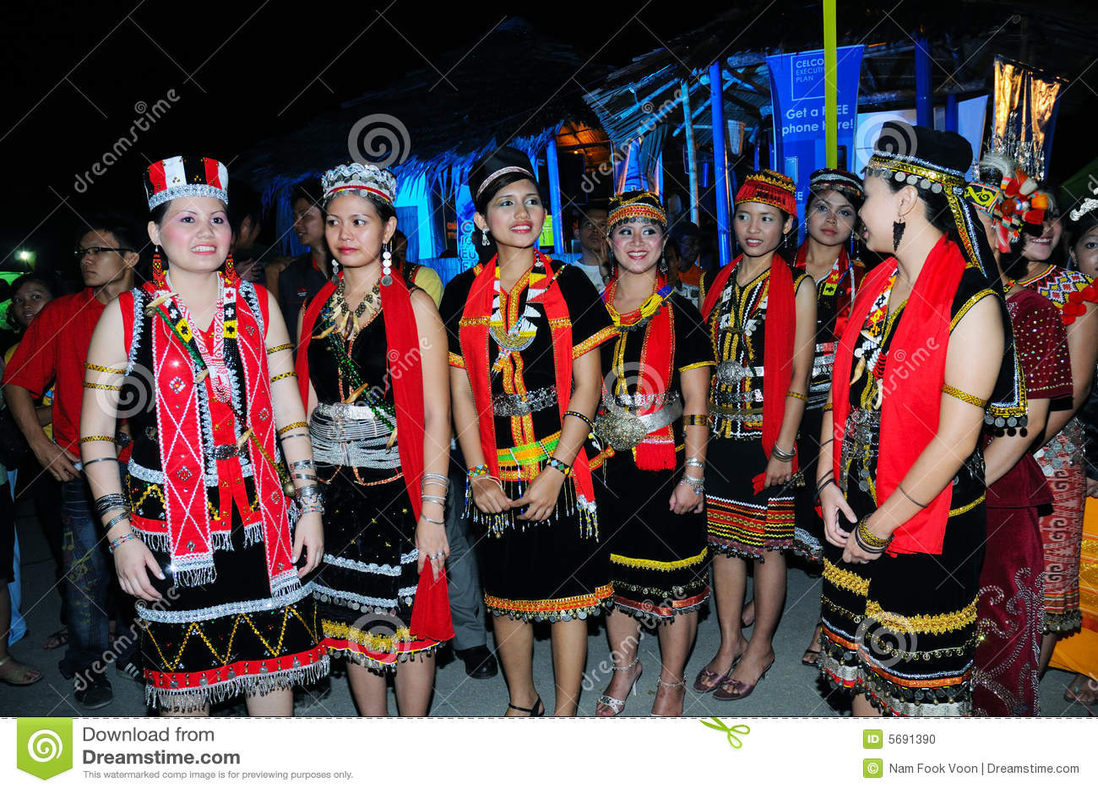 Bidayuh Women Editorial Image Image Of Dayak Cultural 5691390