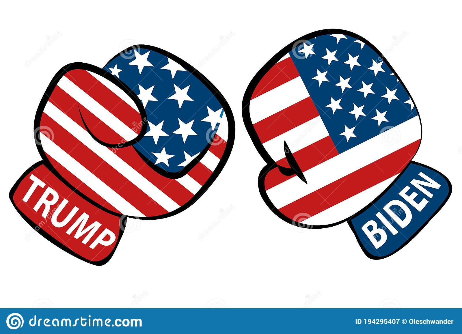 Biden And Trump Battle For Becoming President Of Usa United States Of America Illustrated Like Two Boxing Gloves With The Names B Editorial Photography Illustration Of Business Flag 194295407