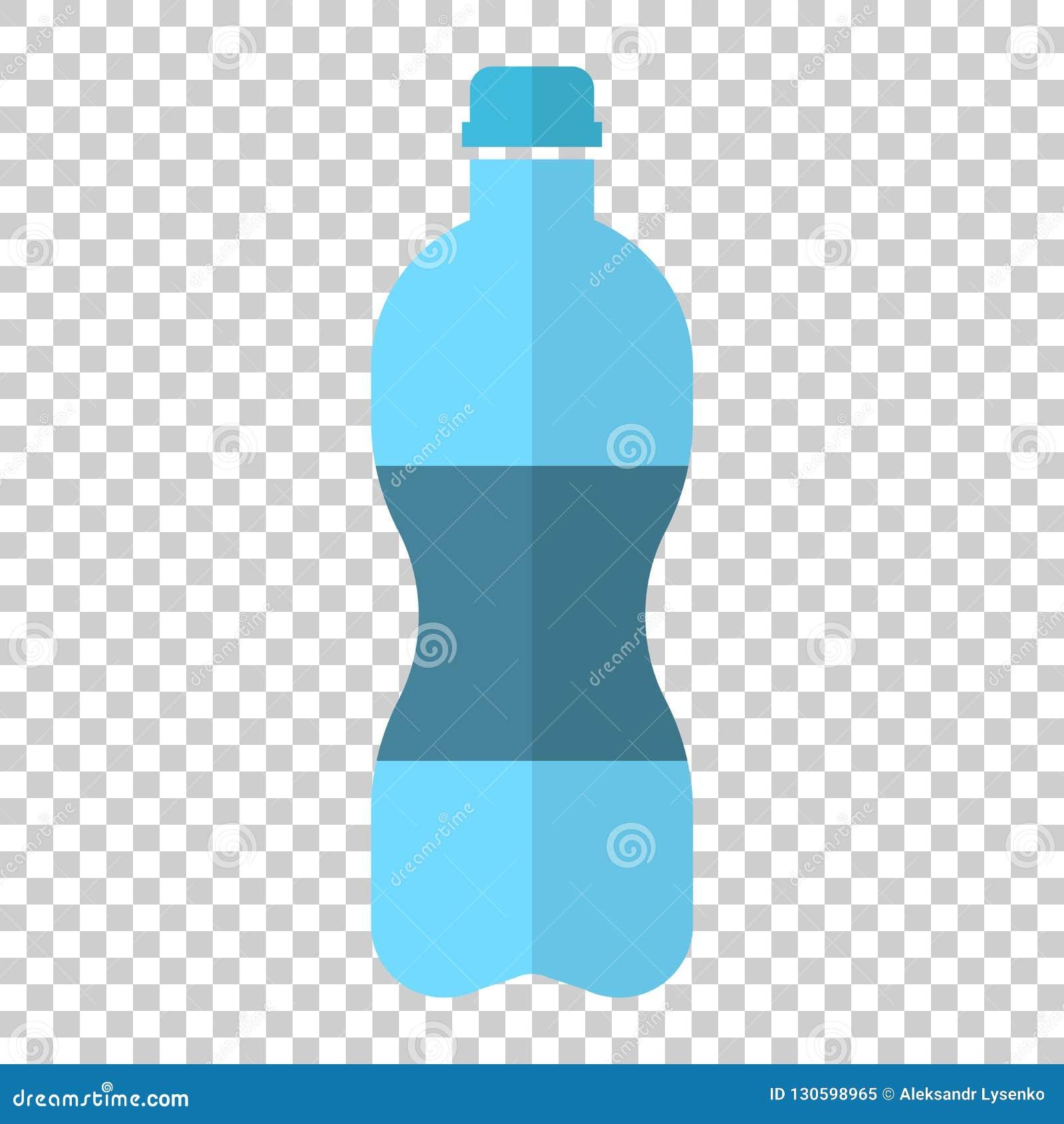 Bidon ikona w mieszkanie stylu Plastikowy sodowanej butelki wektoru illu