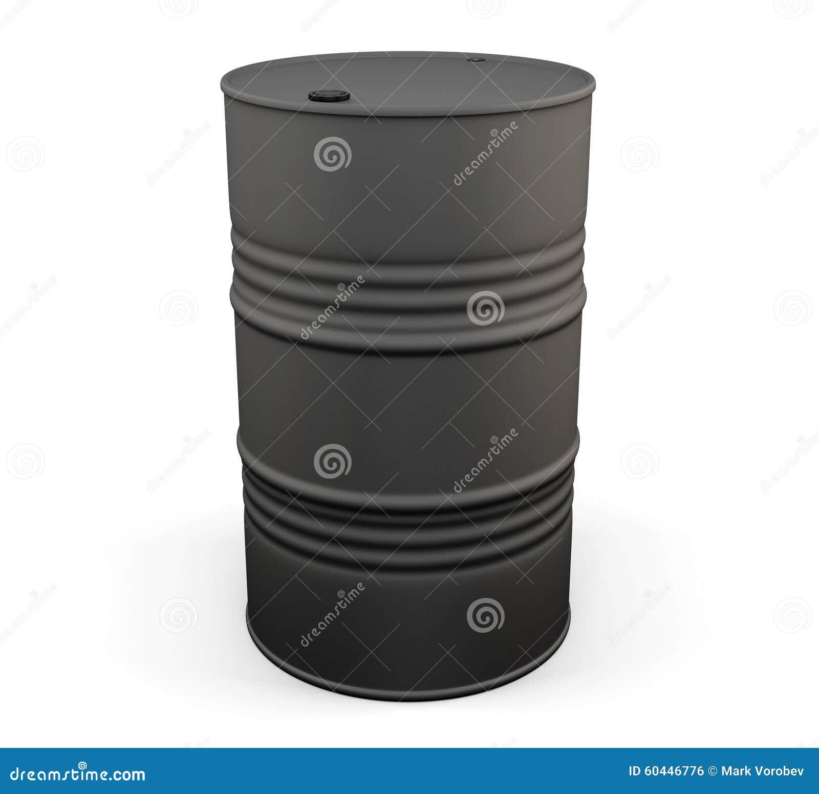 Bidon p trole noir en m tal 3d illustration stock - Bidon de petrole ...