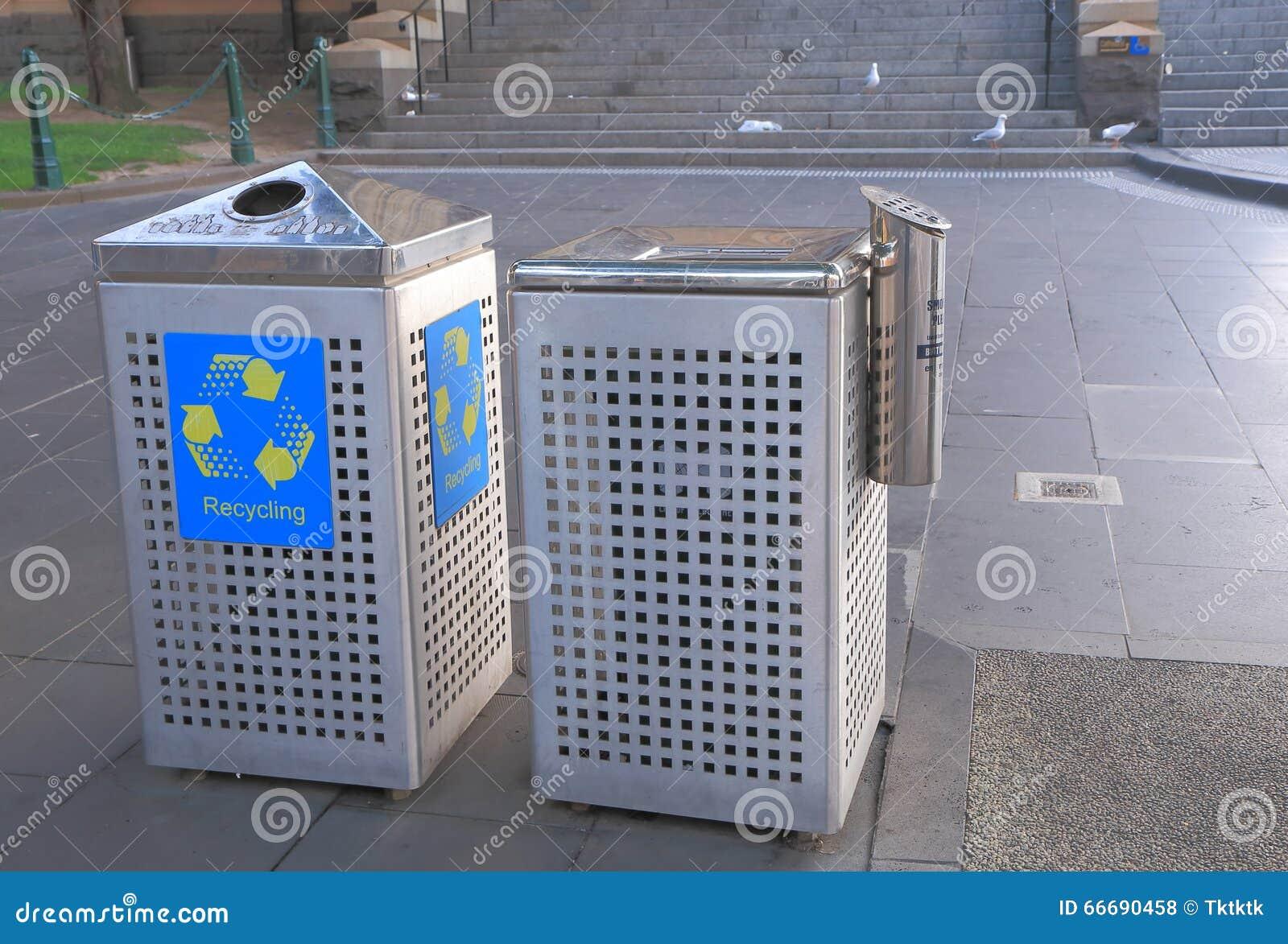 Bidone della spazzatura australia fotografia stock editoriale
