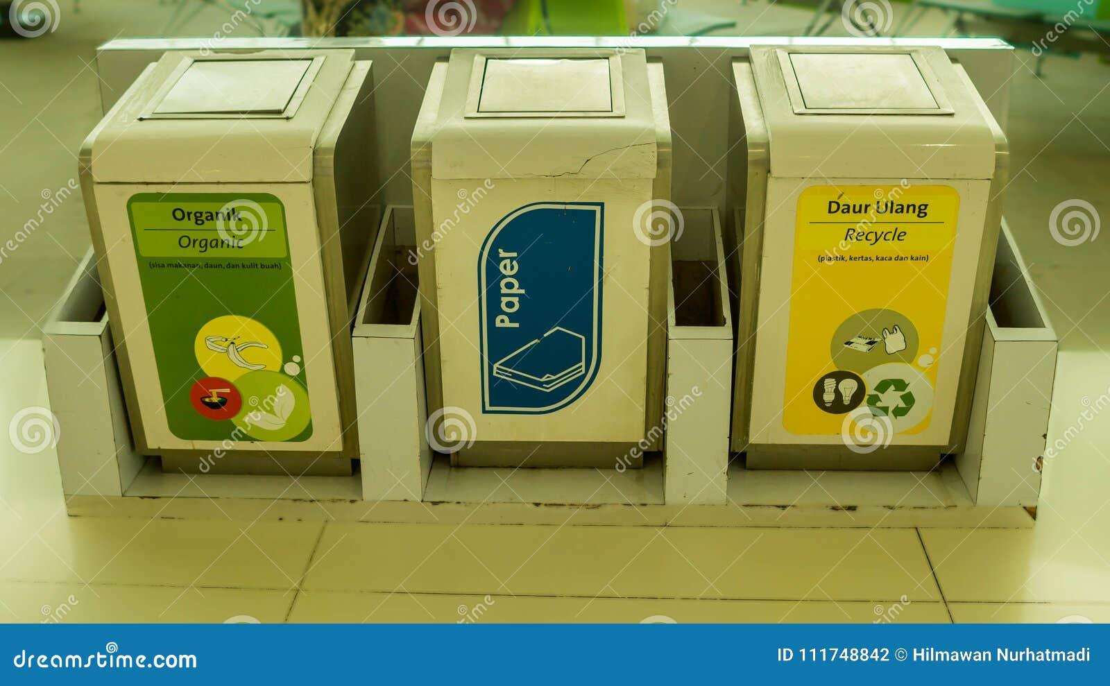 Box Per Bidoni Spazzatura bidone della spazzatura per tipo differente di immondizia i