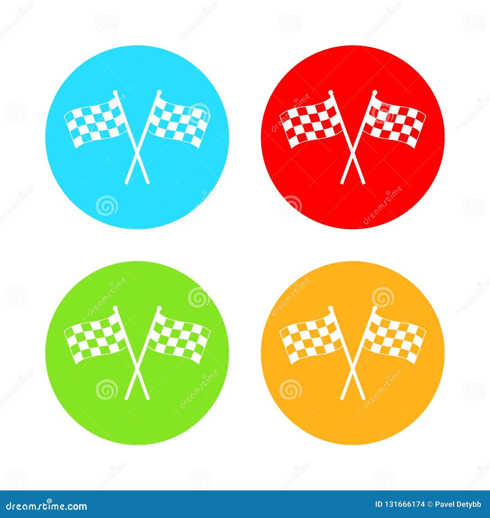 Bieżna chorągwiana ikona Wektorowa ilustracja, płaski projekt