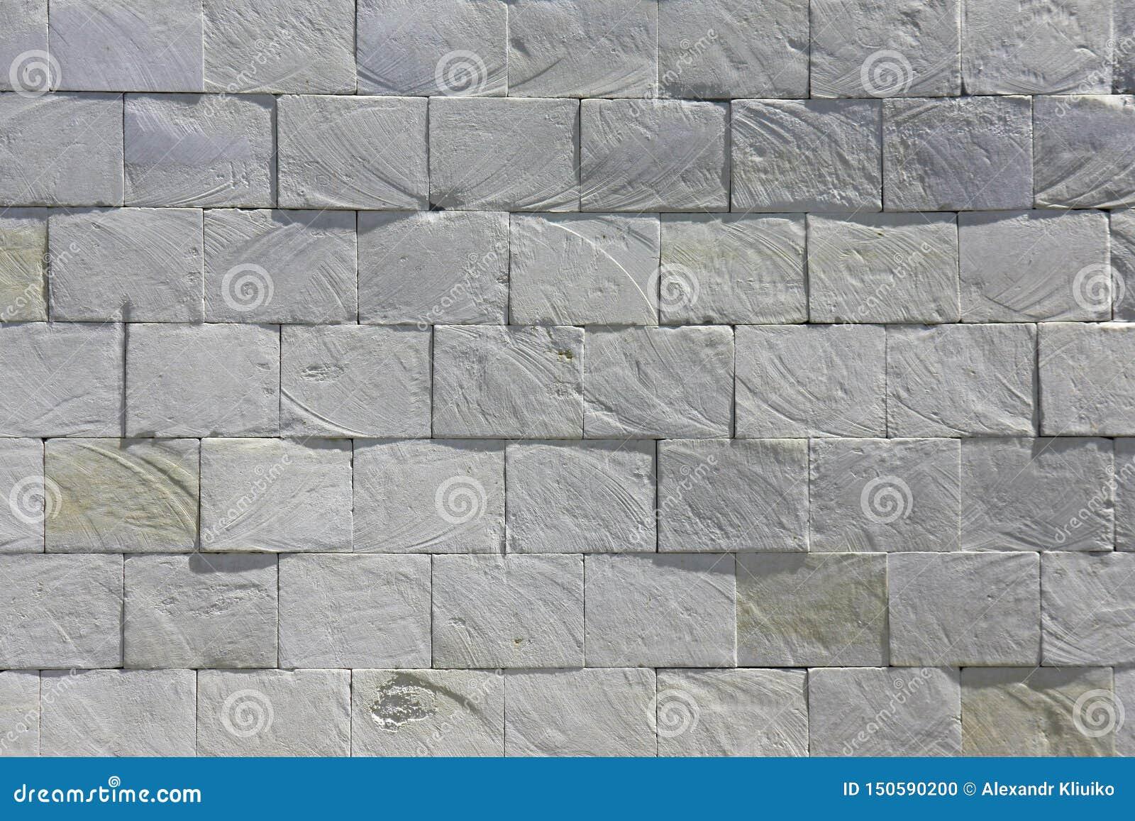 Biel cegły kamienia płytki grunge łupkowej ściany tekstury nieociosany tło