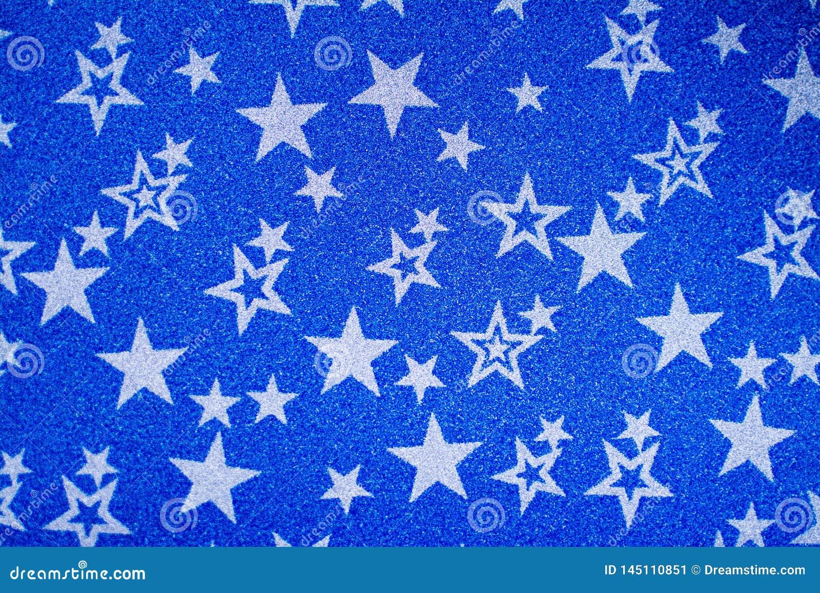 Biel gwiazdy na b??kitnym b?yszcz?cym tle