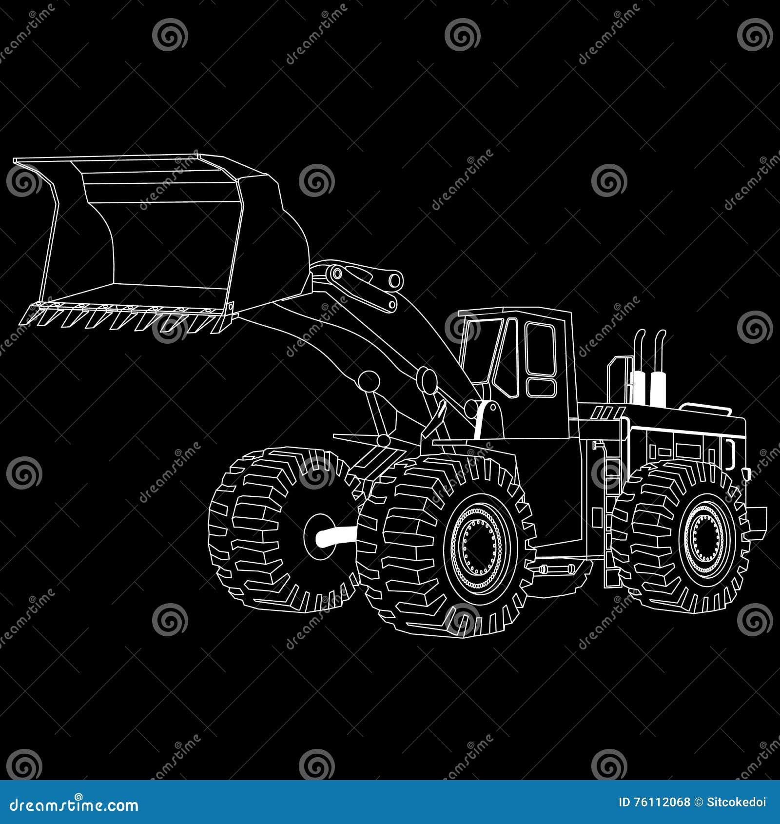 Biel paskuje buldożer,