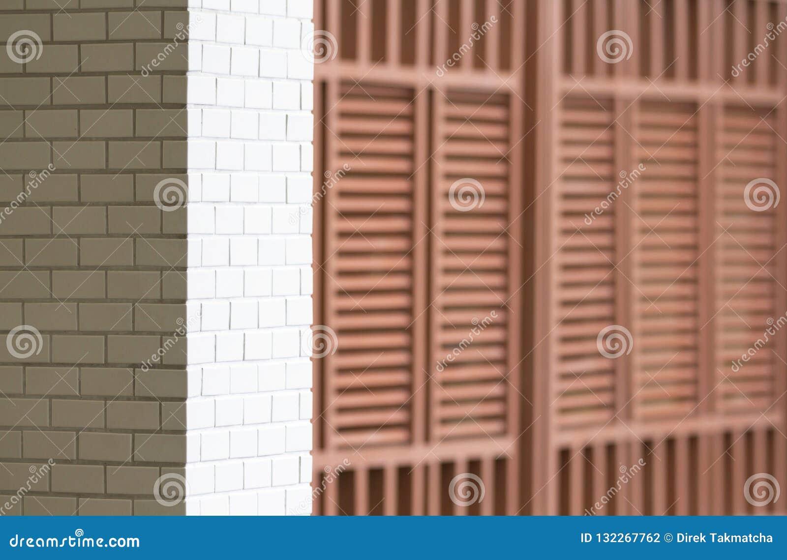 Biel taflujący ścienny i drewniany lath ściany wzór
