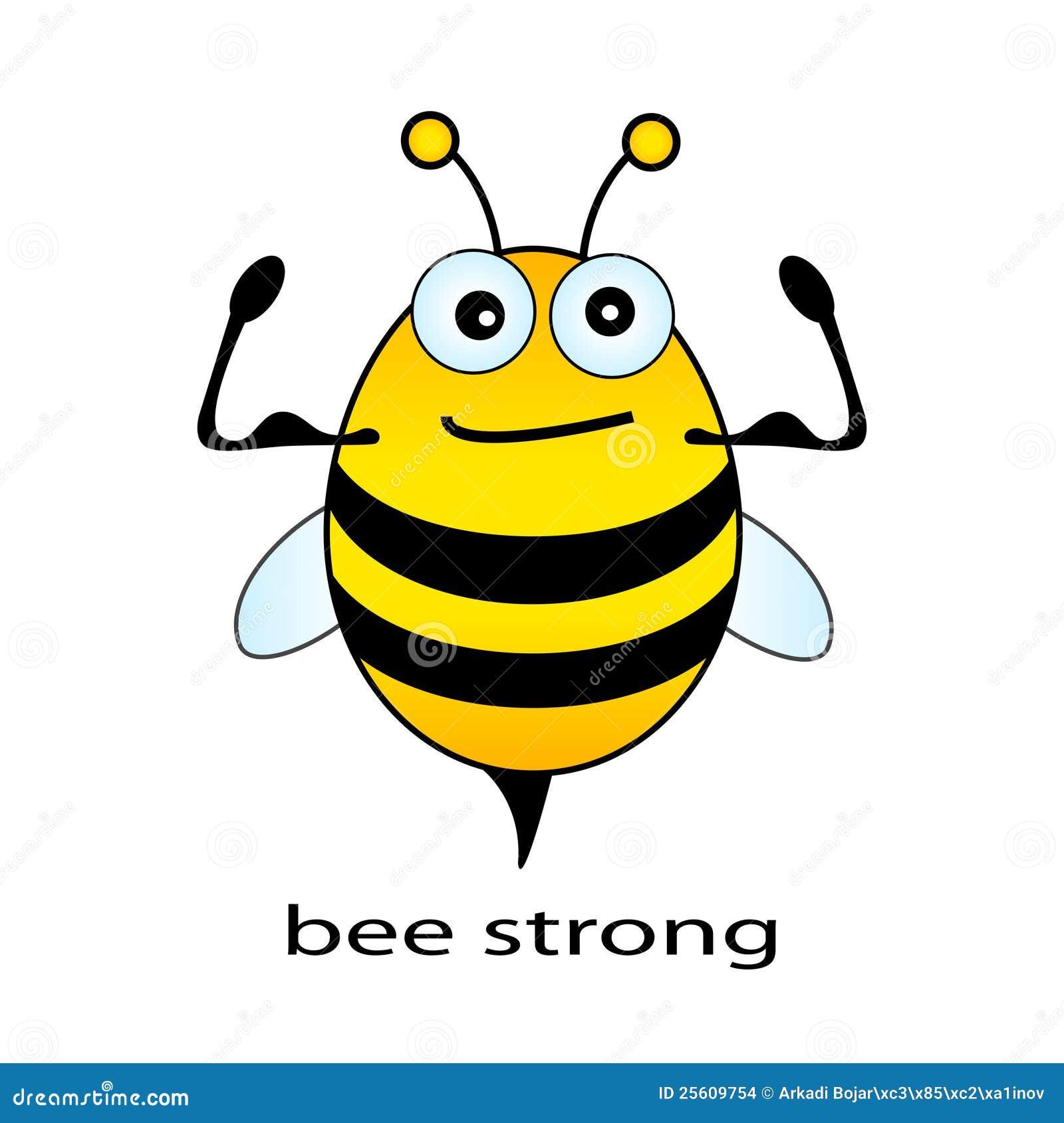 Biene stark vektor abbildung. Illustration von stärke ...