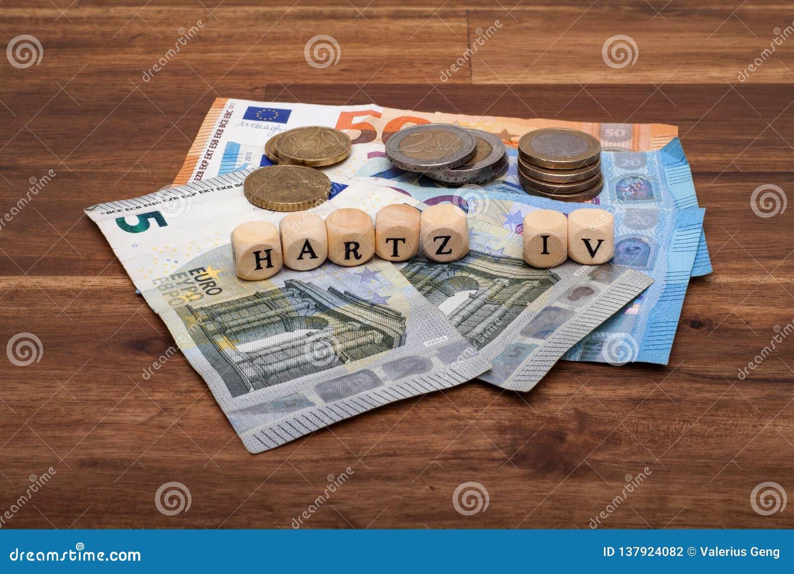 Bienestar básico Solidarisches alemán Grundeinkommen Hartz IV del subsidio de desempleo de la renta de la muestra