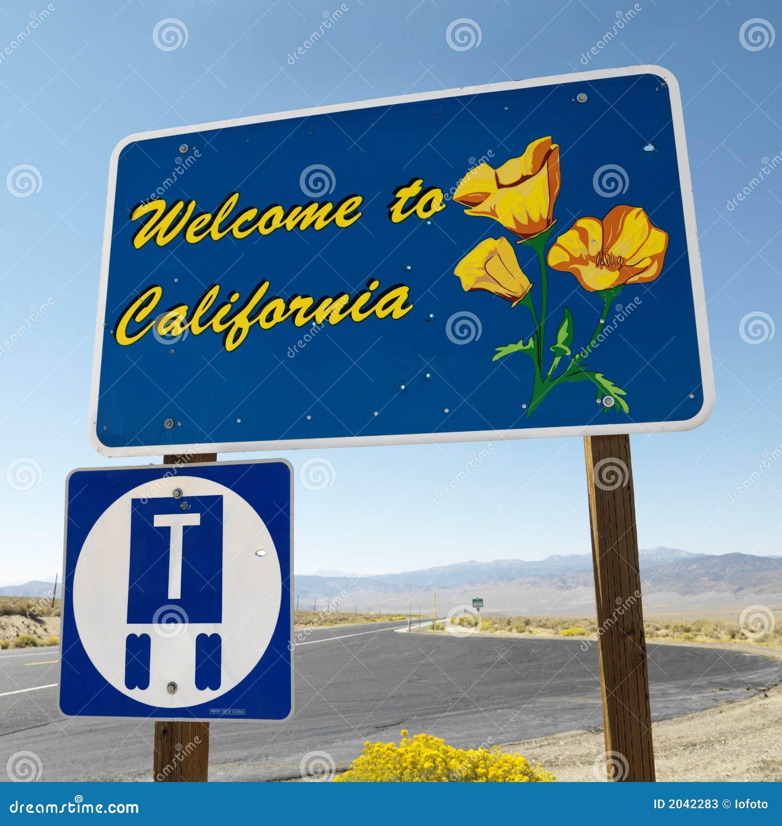 Bienvenue au signe de la Californie.