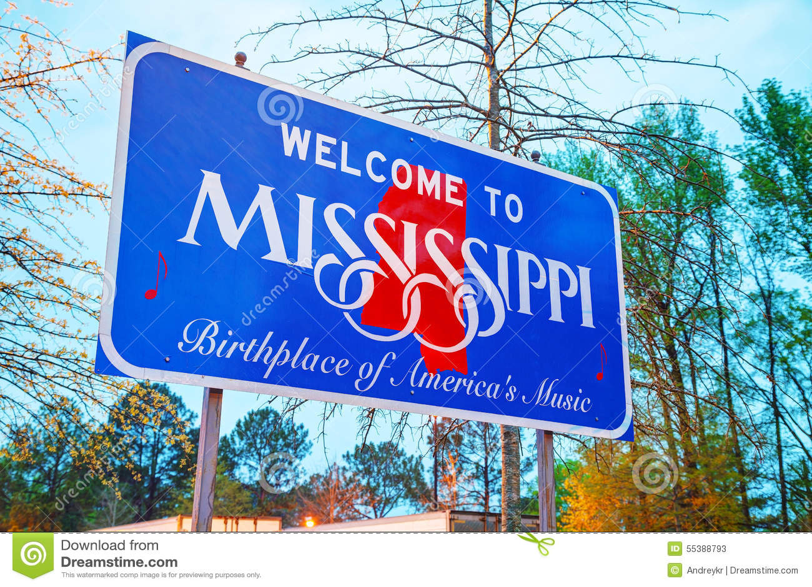 Bienvenue au signe du Mississippi