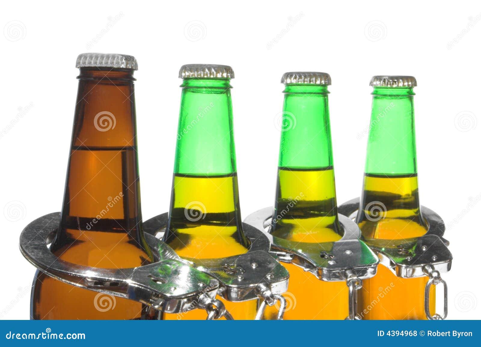 Bier en Handcuffs - Gedronken DrijfConcept