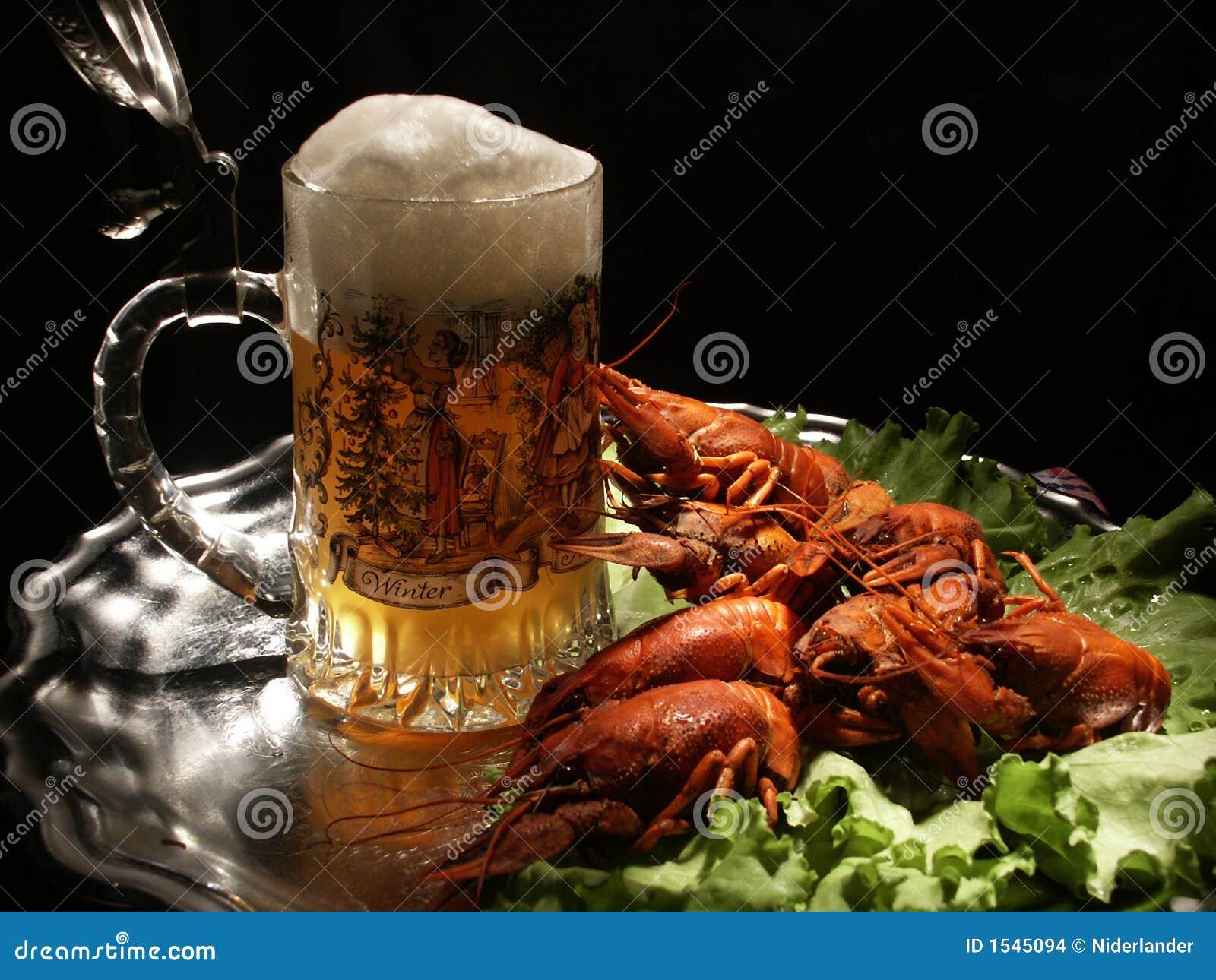 Bier en rivierkreeften