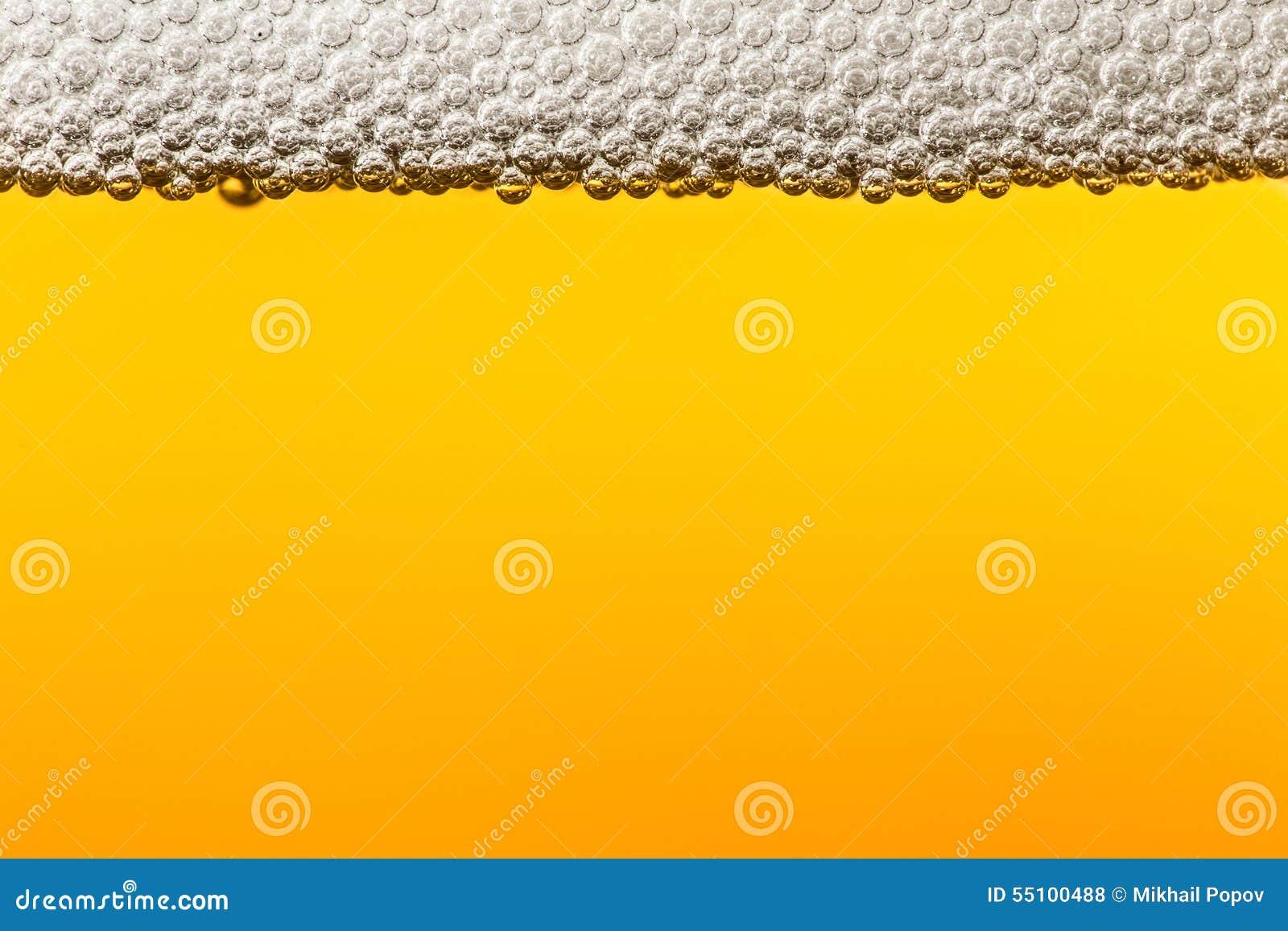 Bier met schuim Macro