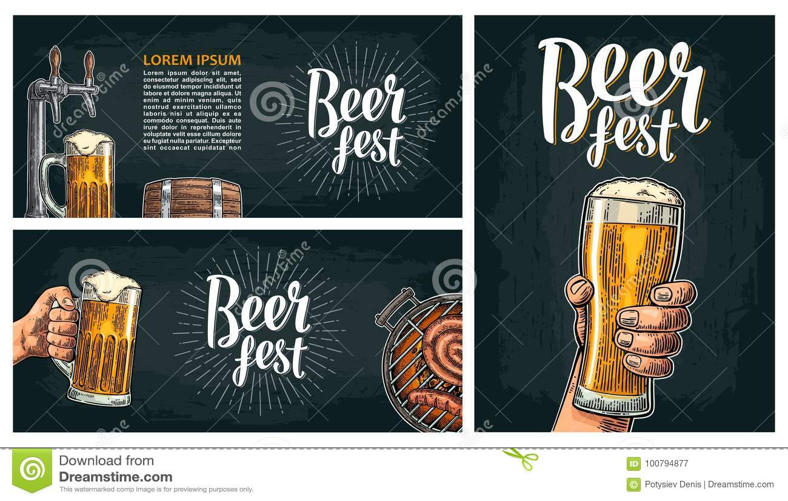 Bierkraan Uitstekende vectorgravureillustratie voor Web, affiche, uitnodiging aan bierpartij