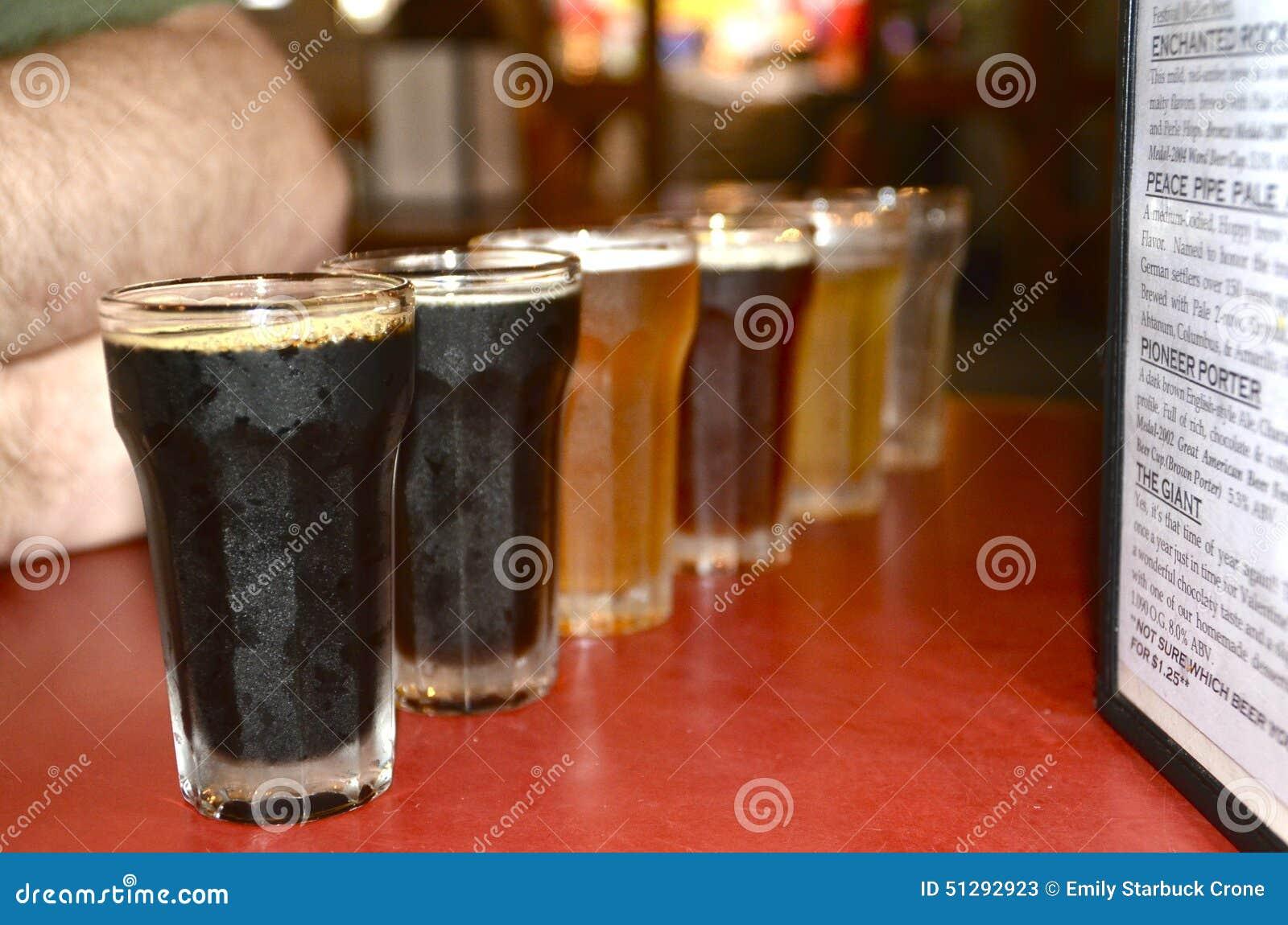 Biervlucht bij een microbrewery