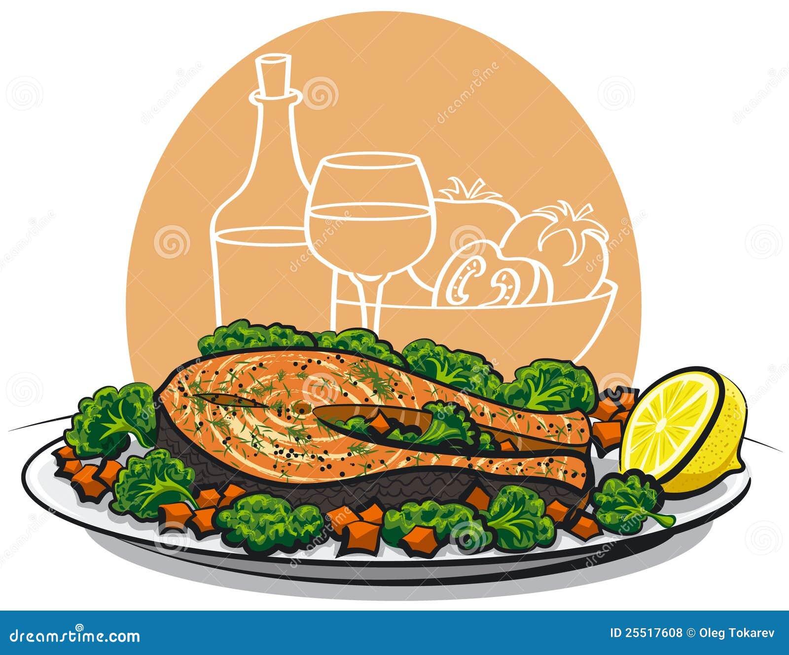 Bife salmon cozido