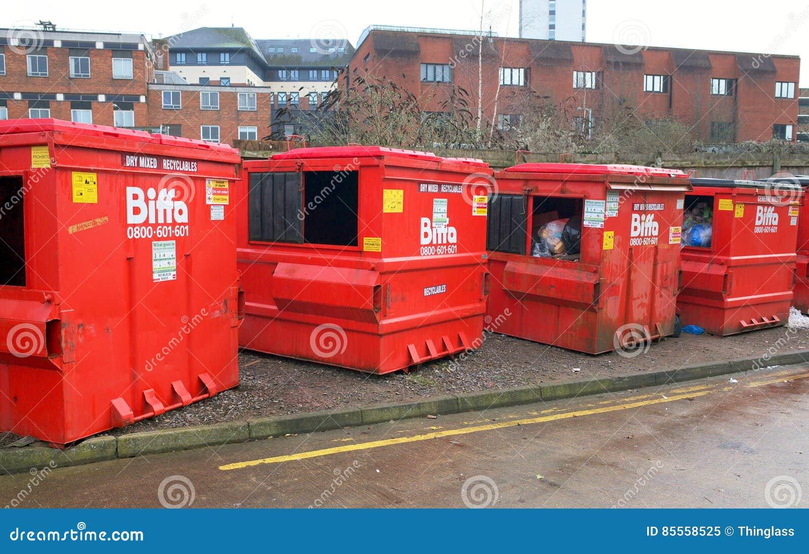 Biffa-Müllabfuhr-Behälter