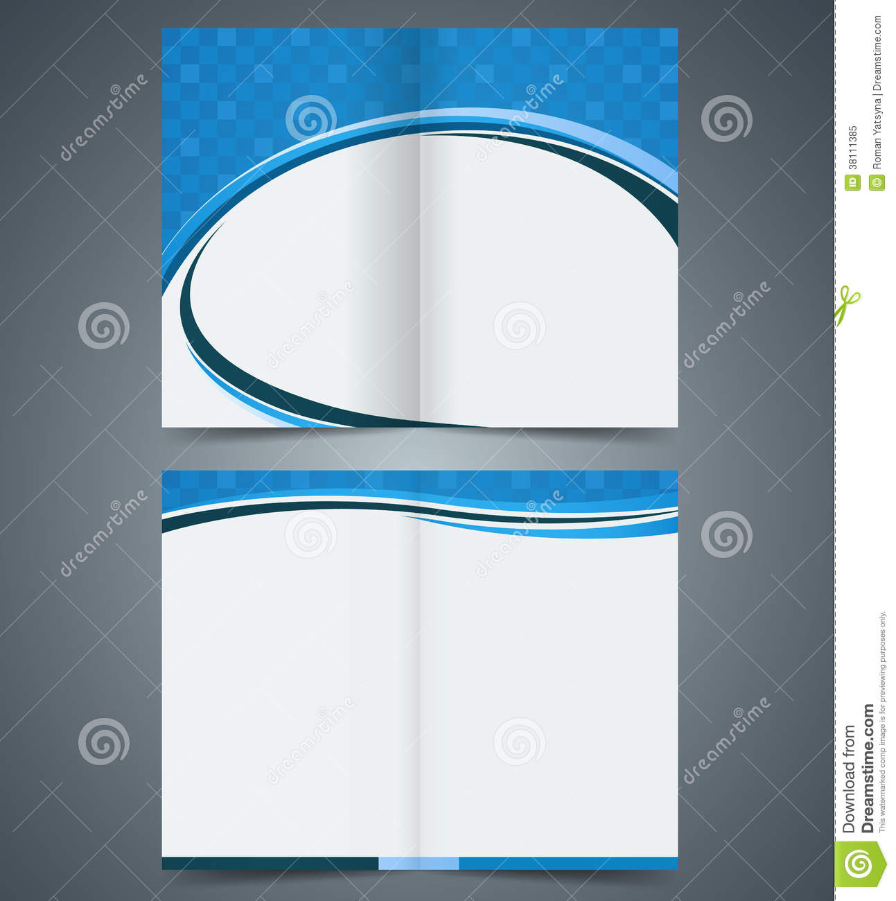 Bifold brochure template design business leaflet stock vector bifold brochure template design business leaflet flashek Choice Image