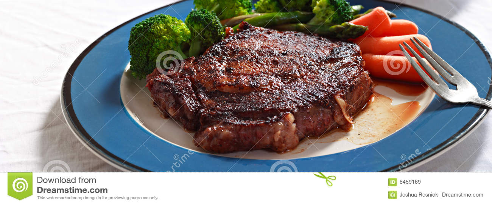 Bifteck avec des veggies
