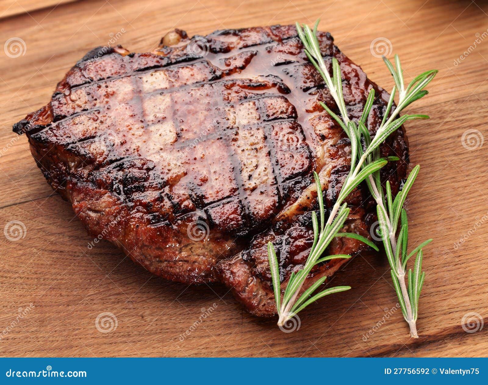 Bifteck de boeuf.