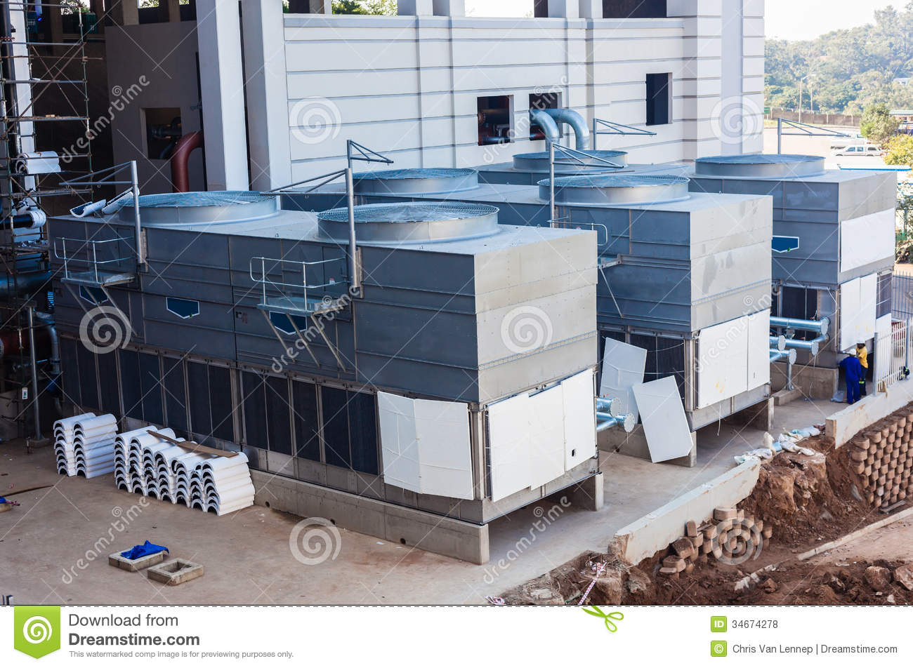 Air-Conditioning Units Large Editorial Stock Photo - Image of