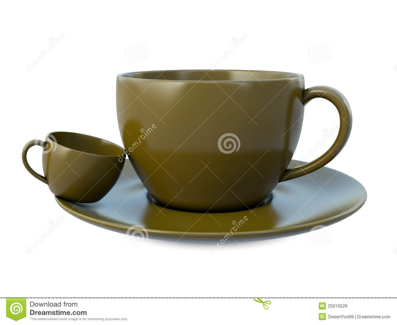 Small Pix Of Large Cups To : Big ans small coffee cups royalty free stock image