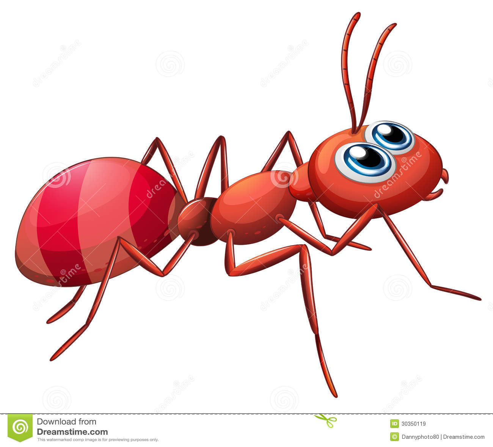cartoon ants crawling