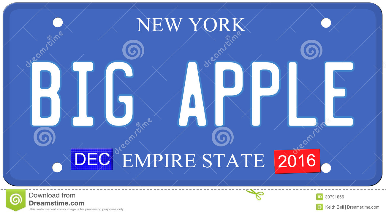 Big apple new york license plate stock illustration illustration big apple new york license plate publicscrutiny Choice Image