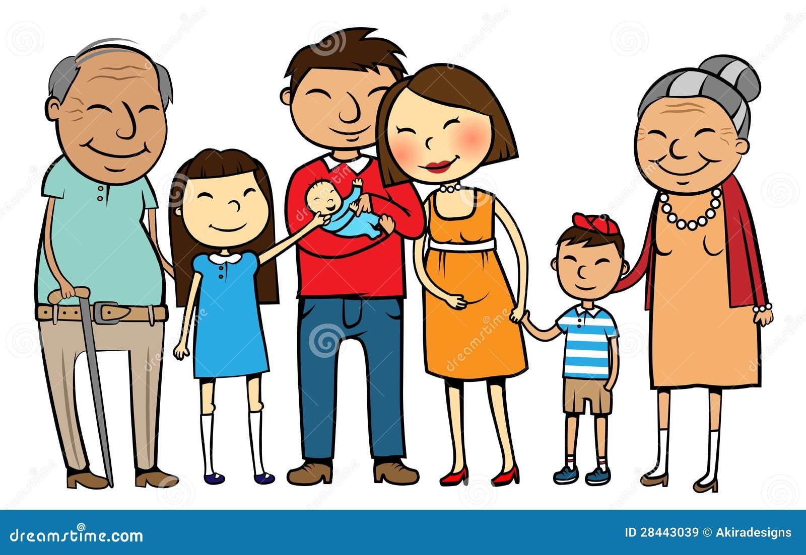 Big Asian family stock vector. Illustration of korean ...