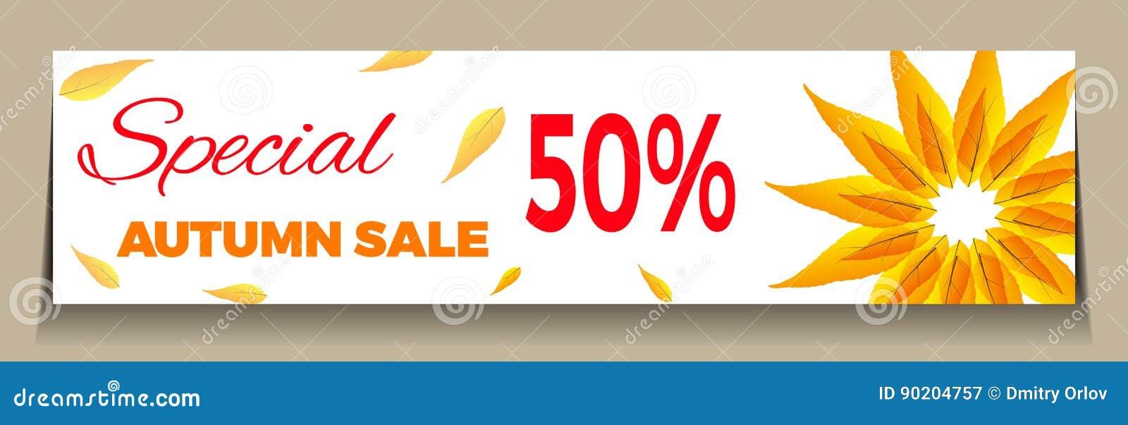 Big Autumn Sale Stock Illustration Image 90204757