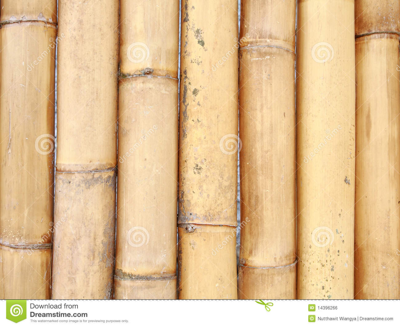 Big Bamboo Wall Royalty Free Stock Image - Image: 14396266