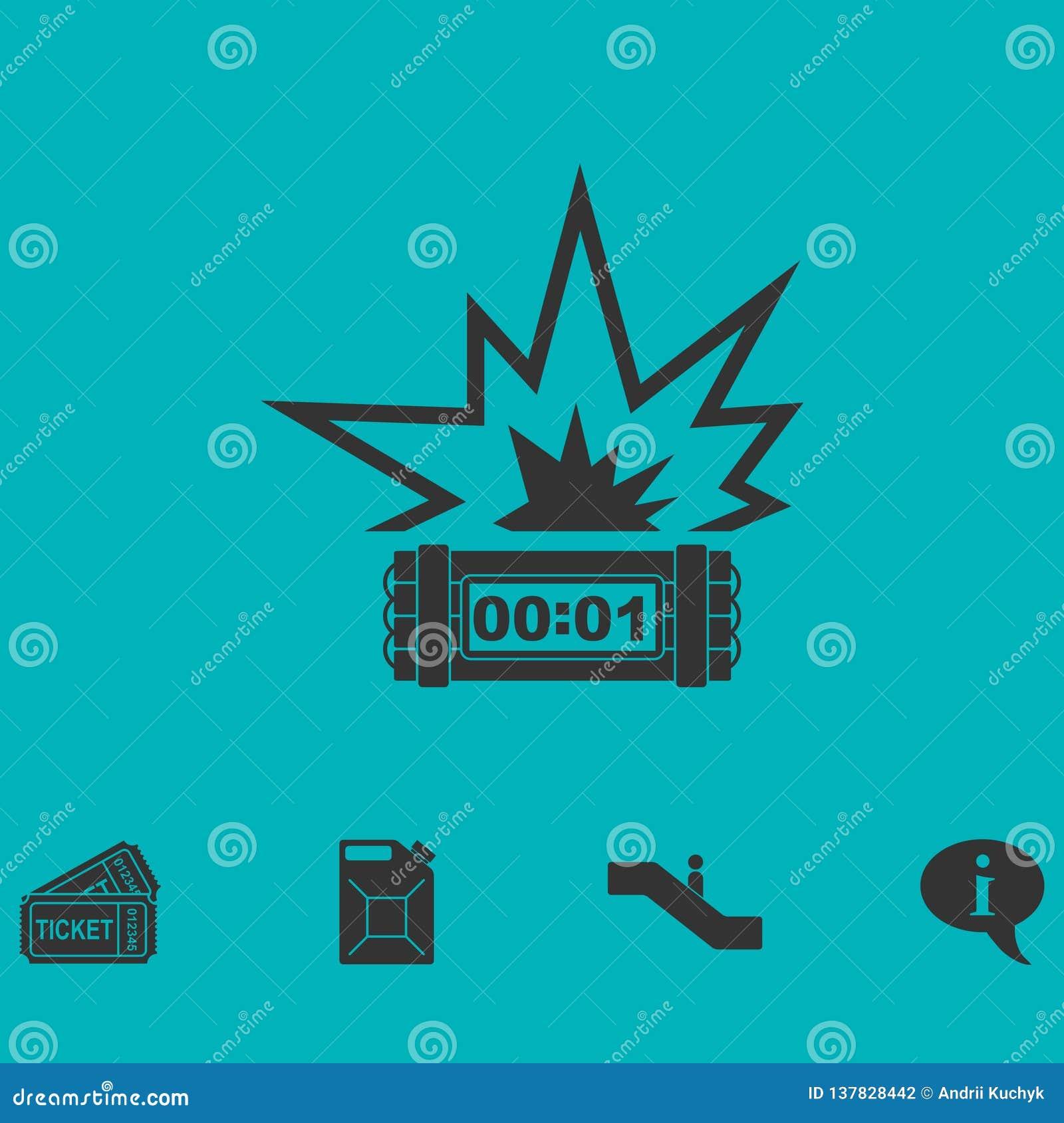Big Bang Flash Icon Flat Stock Vector Illustration Of Burst 137828442