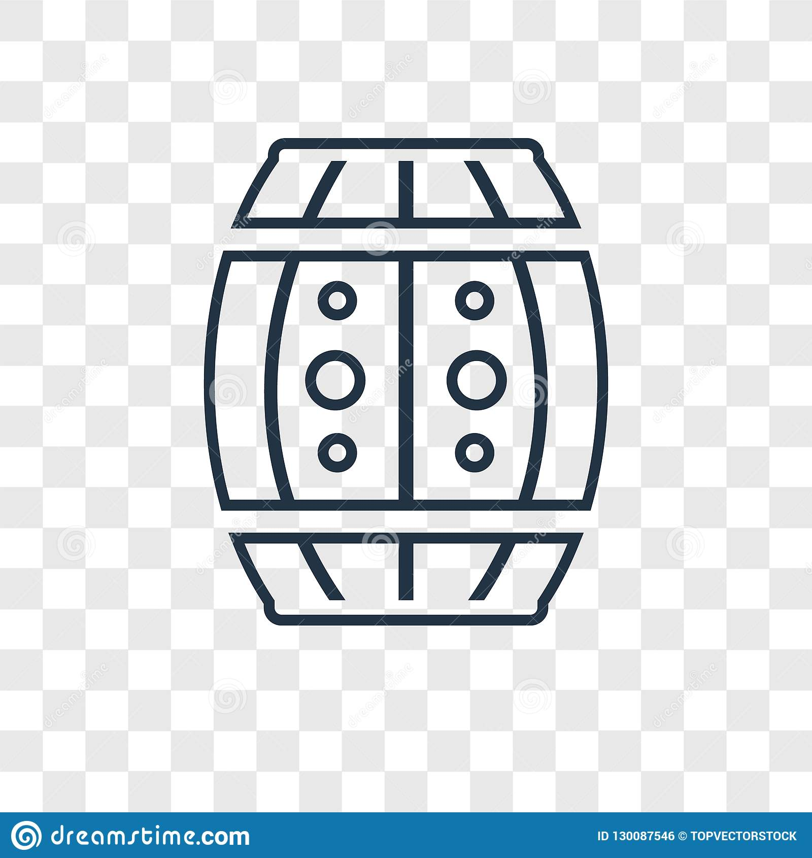 Big Barrel concept vector linear icon isolated on transparent ba