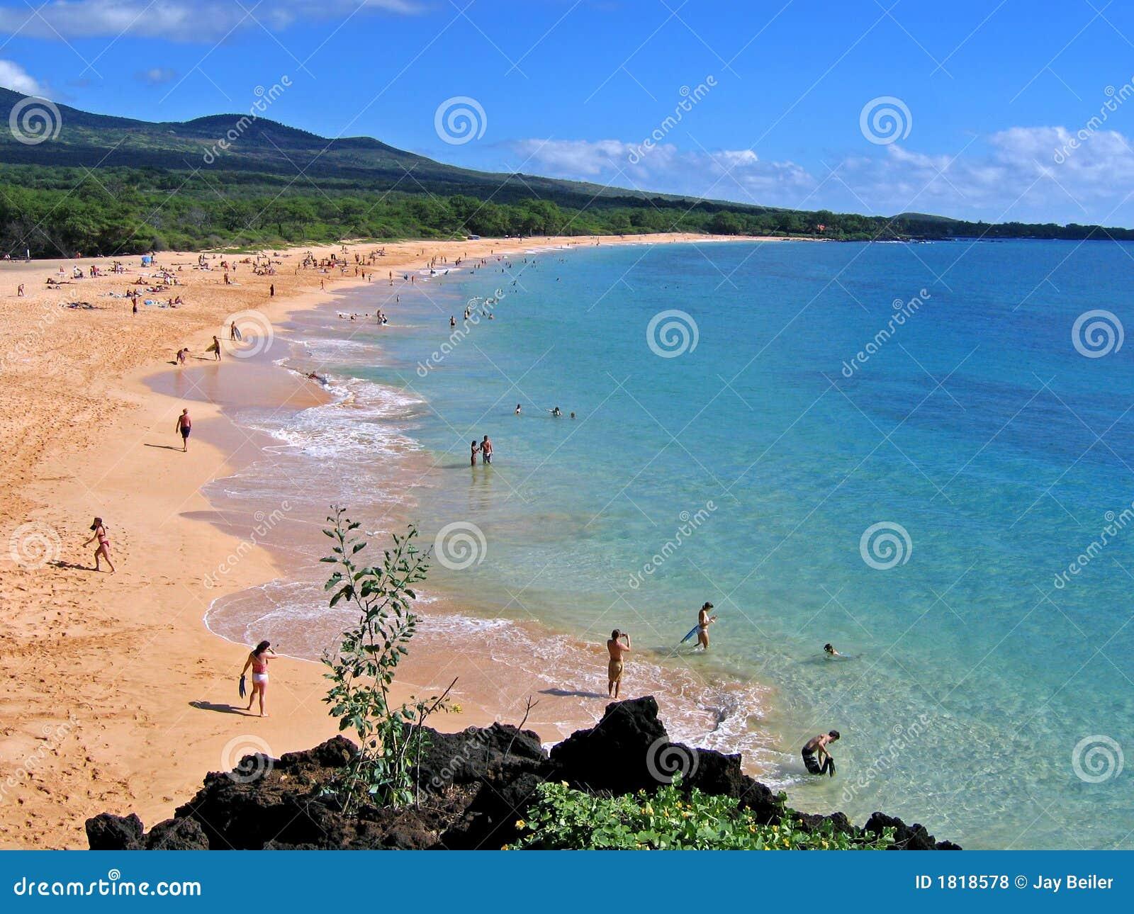 Big Beach, Makena, Maui, Hawaii Royalty Free Stock Photos - Image ...