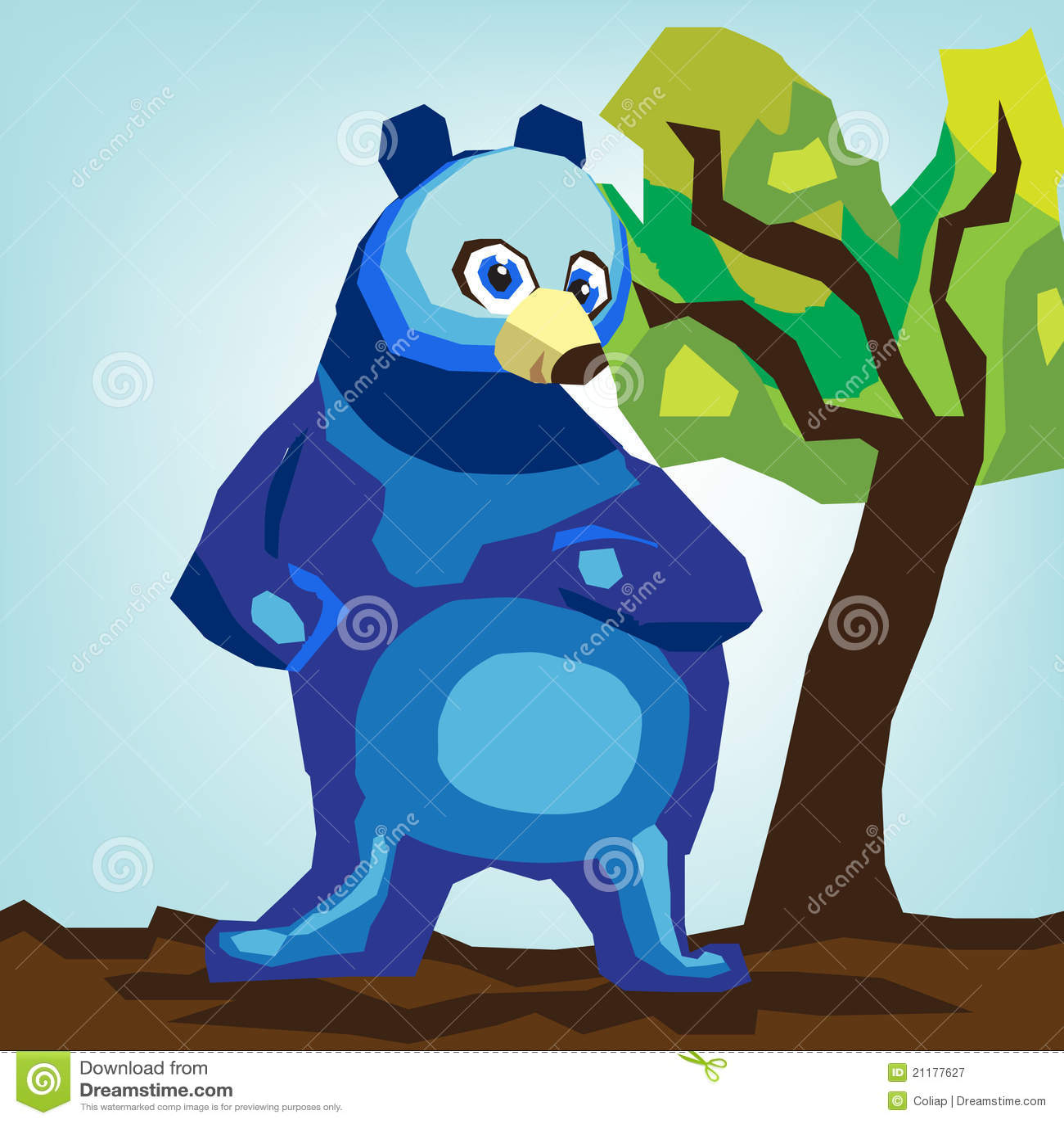 Big bear abstract