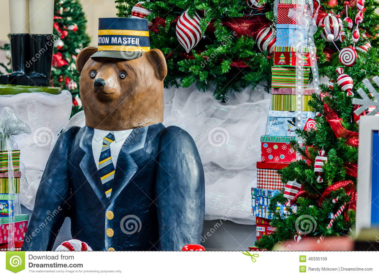 download big bear figure in front of christmas tree stock image image of pine - Big Bear Christmas